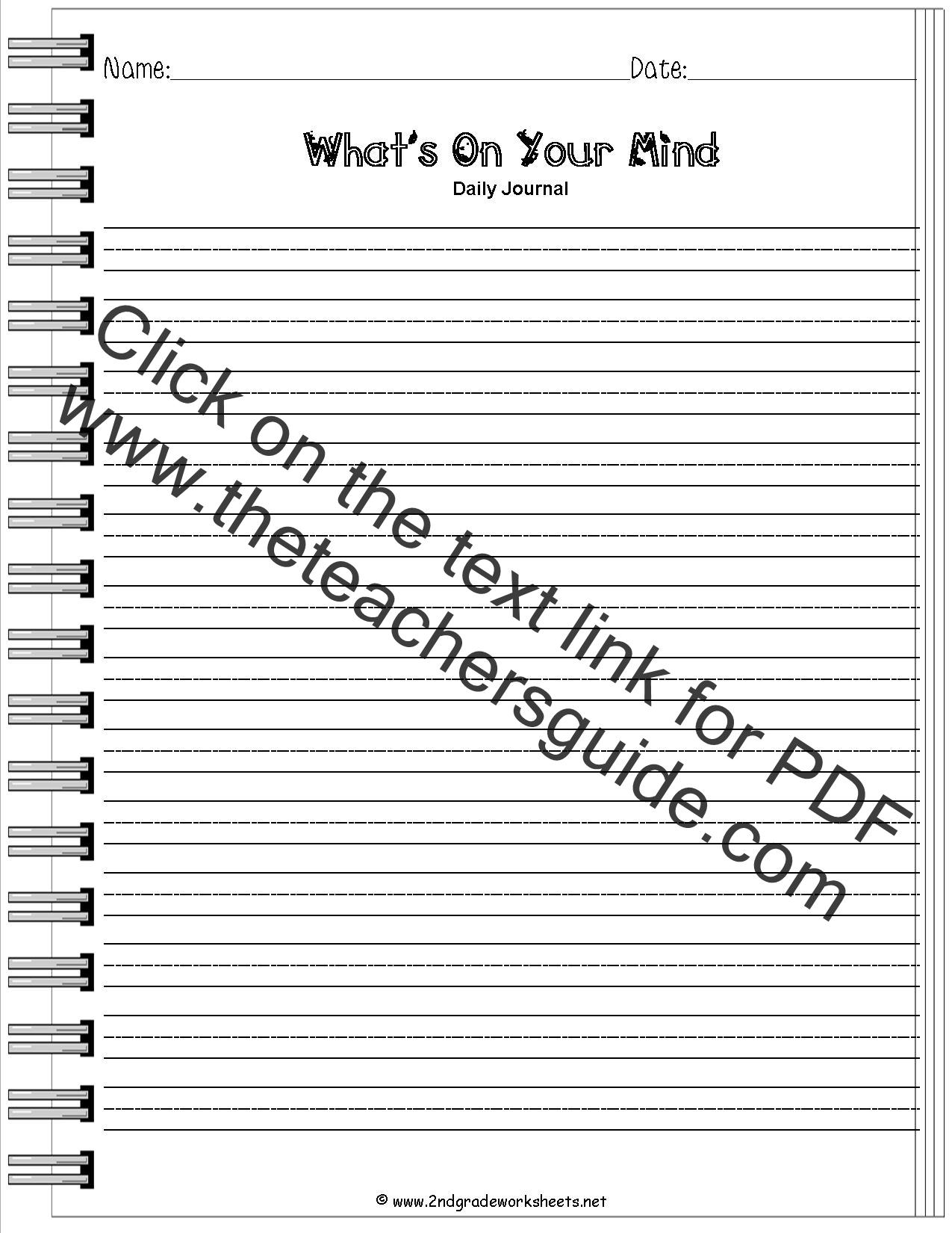 2nd grade writing prompts & composition worksheets page 2